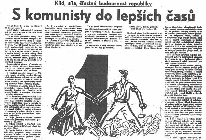 Volební program KSČ v roce 1946